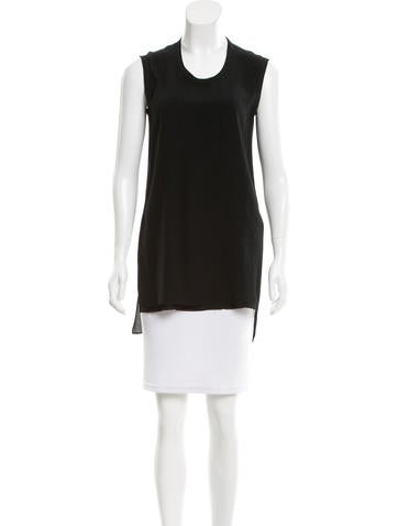 Alice + Olivia Sleeveless Scoop Neck Top None