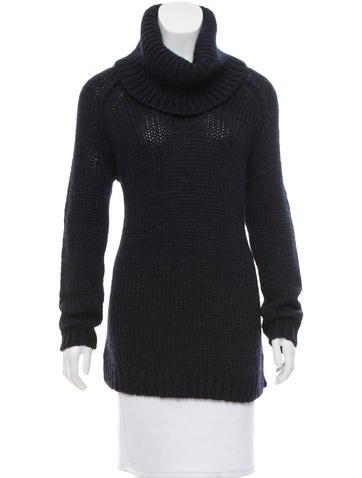 Alice + Olivia Turtleneck Rib Knit Sweater None