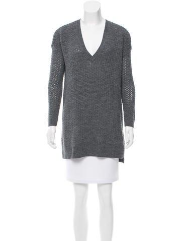 Alice + Olivia Long Sleeve Rib Knit Sweater None