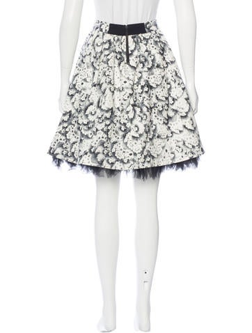 Printed Flared Skirt w/ Tags