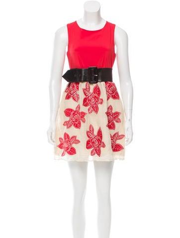 Alice + Olivia Belted Mini Dress