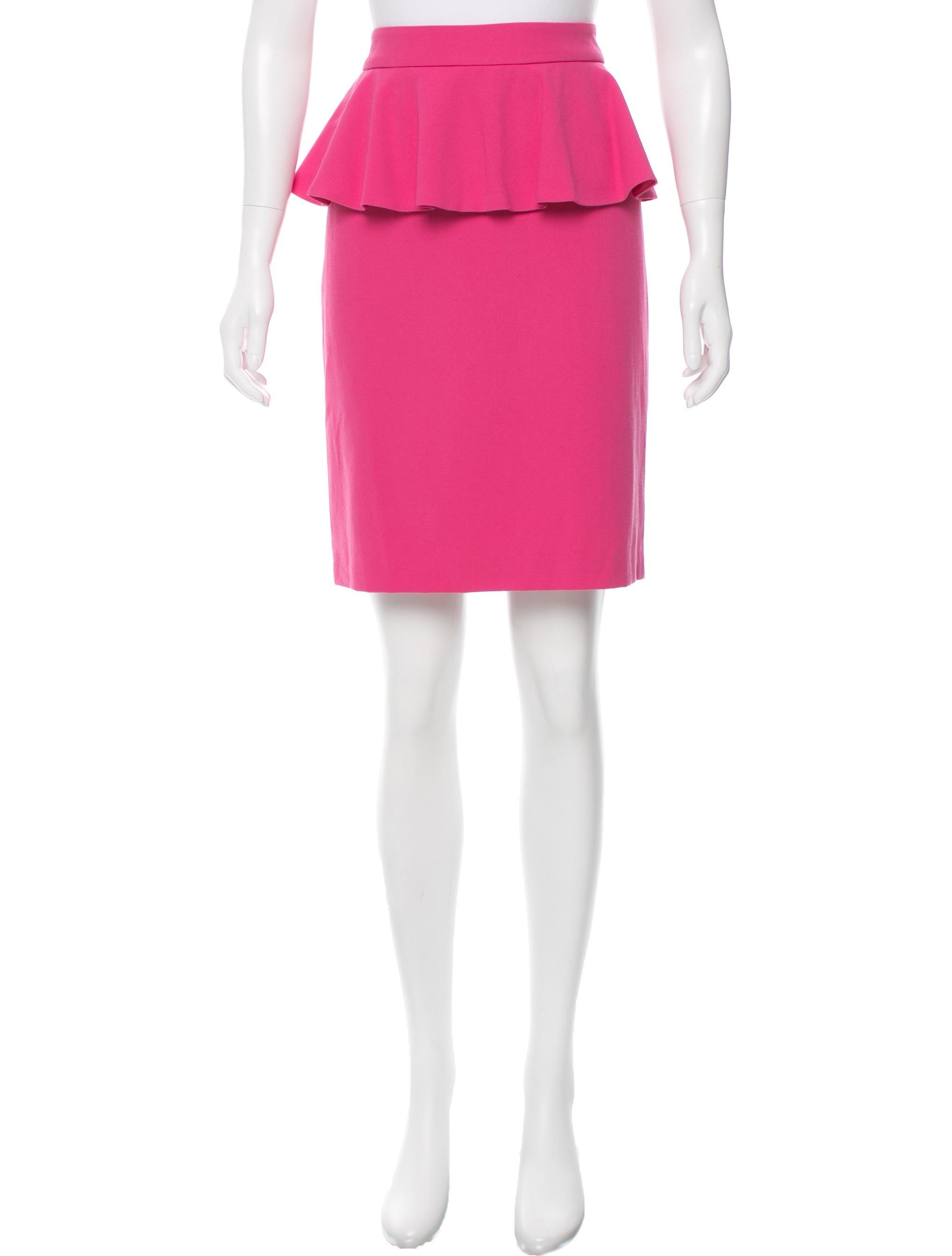 peplum knee length skirt clothing