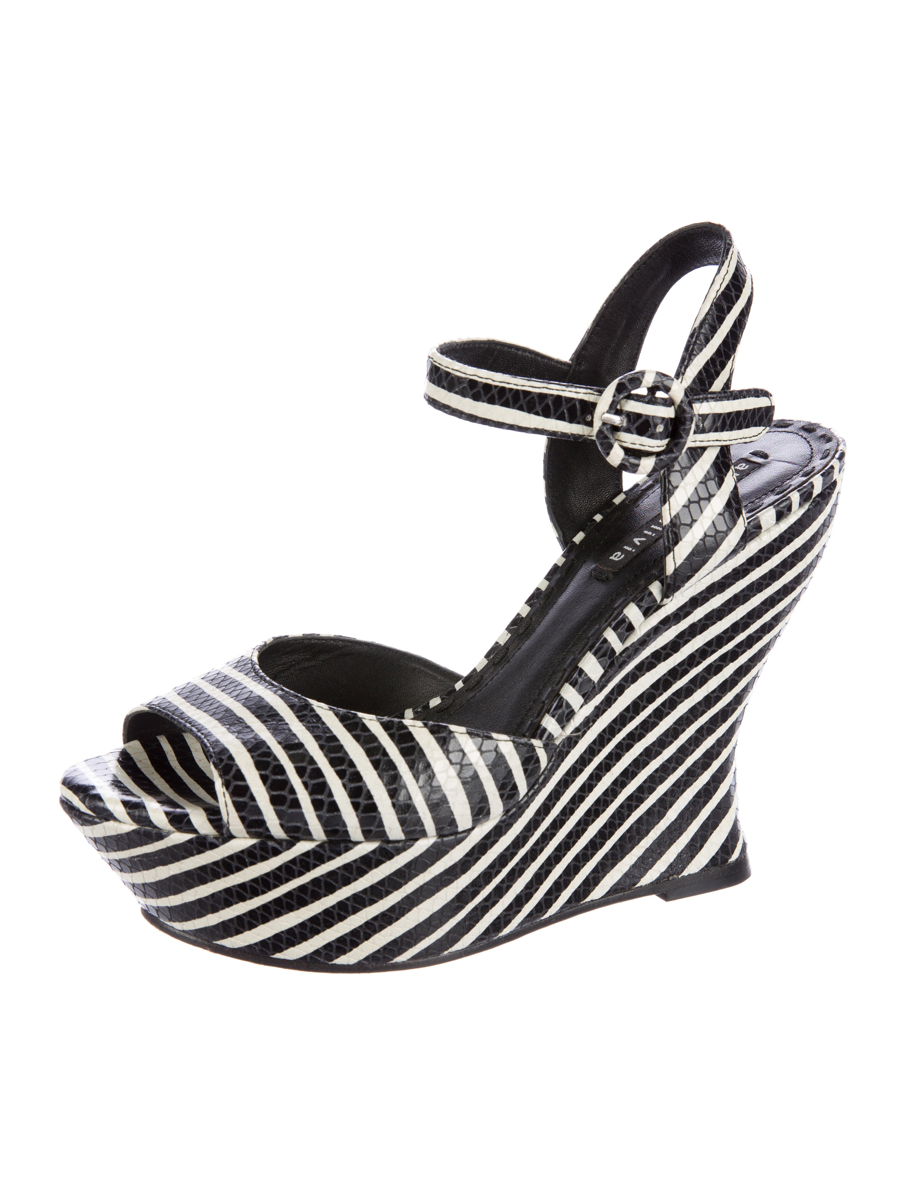striped wedge sandals shoes wao49133