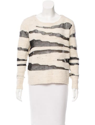 Alice + Olivia Open Knit Wool Sweater None