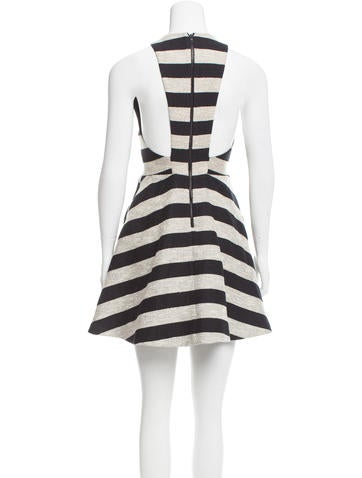 Structured Striped Dress