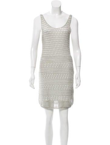Alice + Olivia Open Knit Sequin Dress None