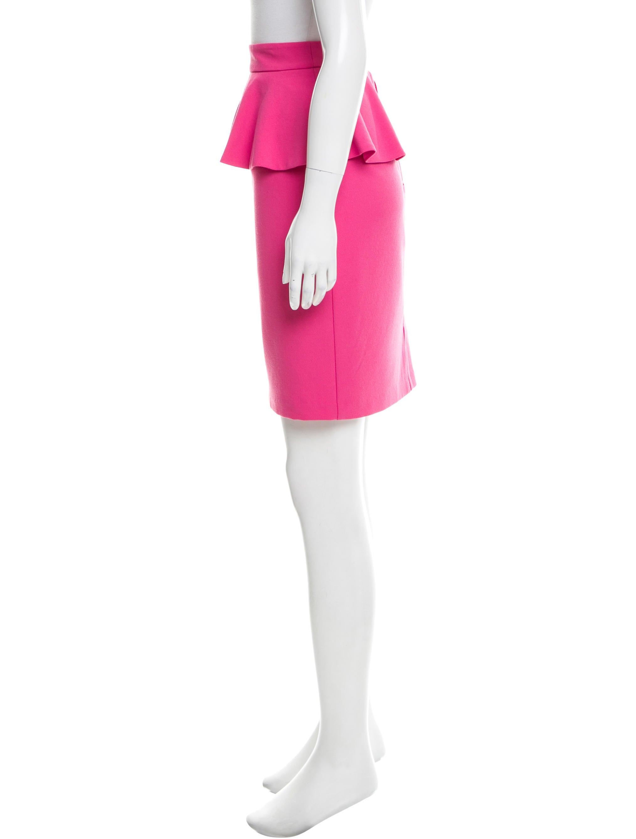 peplum knee length skirt skirts