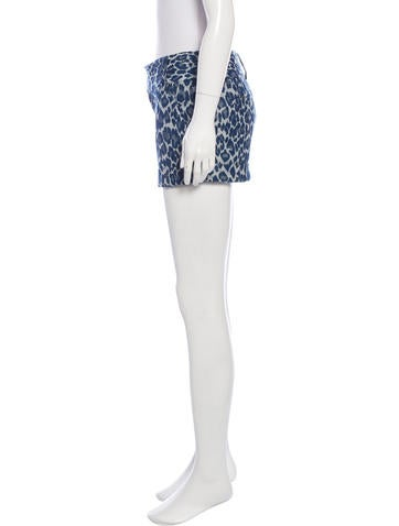 Leopard Patterned Mini Shorts