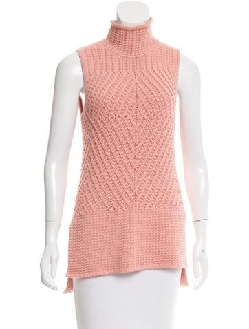 Alice + Olivia Sleeveless Rib Knit Sweater None