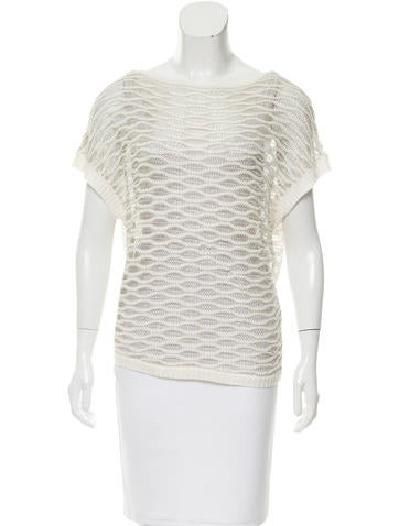 Alice + Olivia Open Knit Metallic Sweater None
