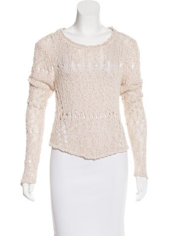 Alice + Olivia Scoop Neck Cropped Sweater None