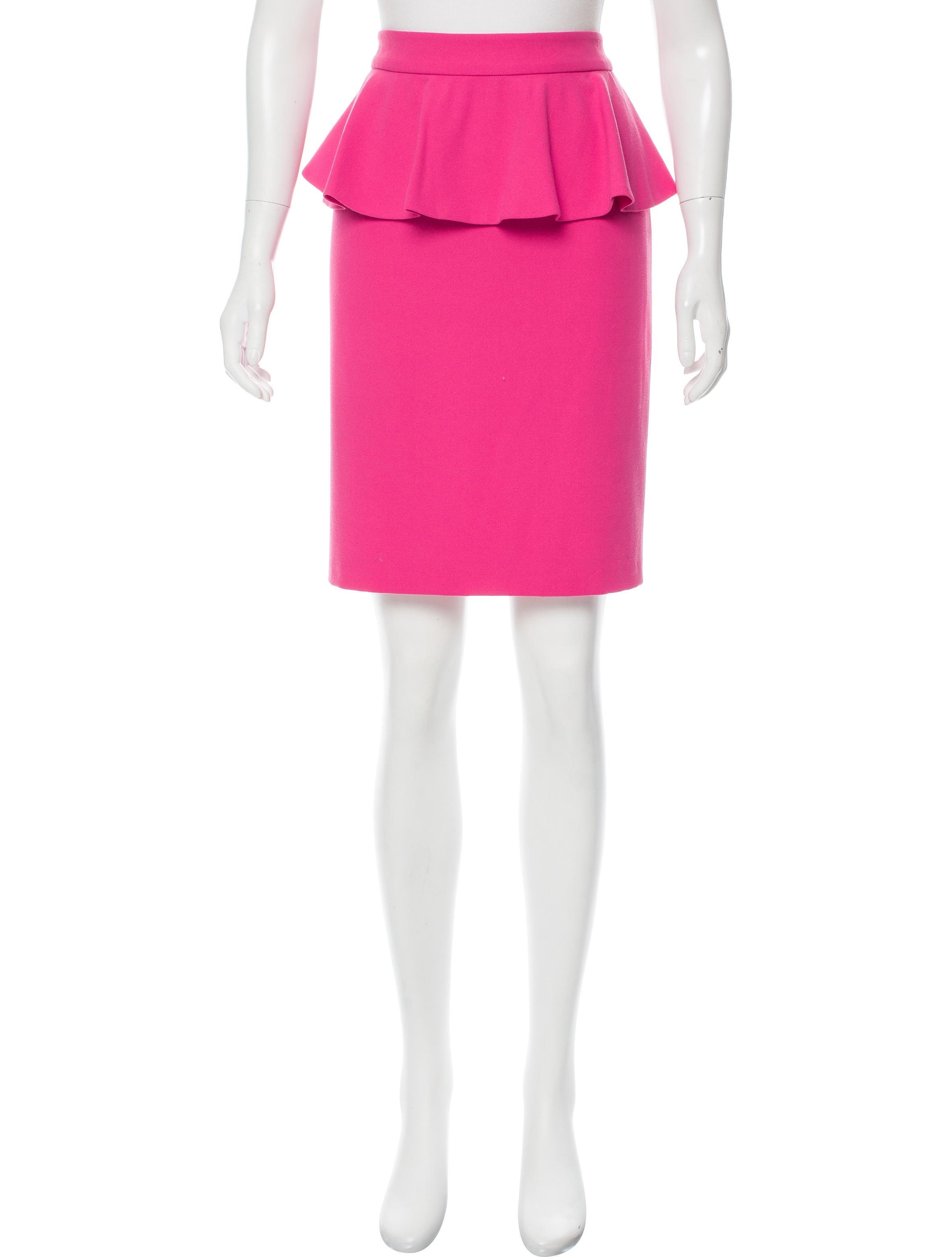 knee length peplum skirt clothing