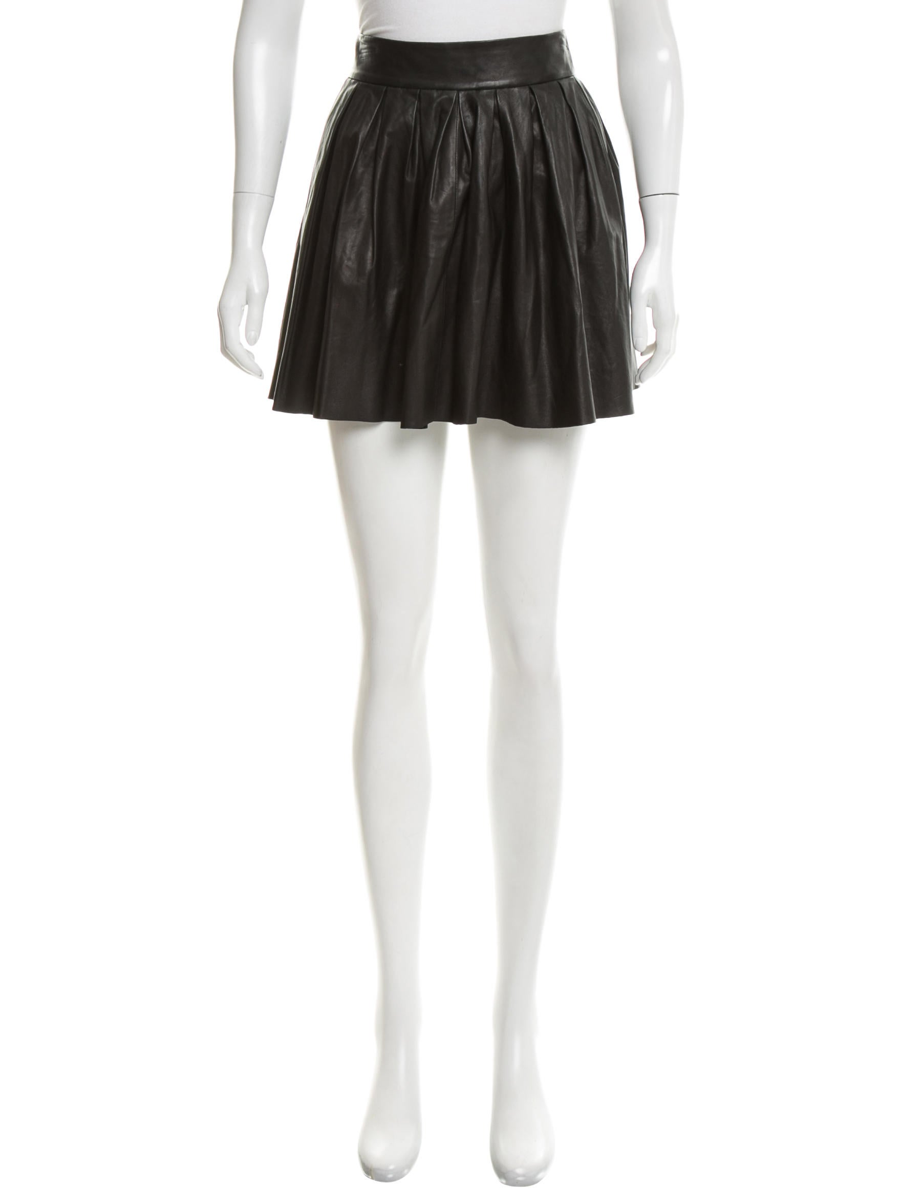 pleated leather skirt clothing wao52864