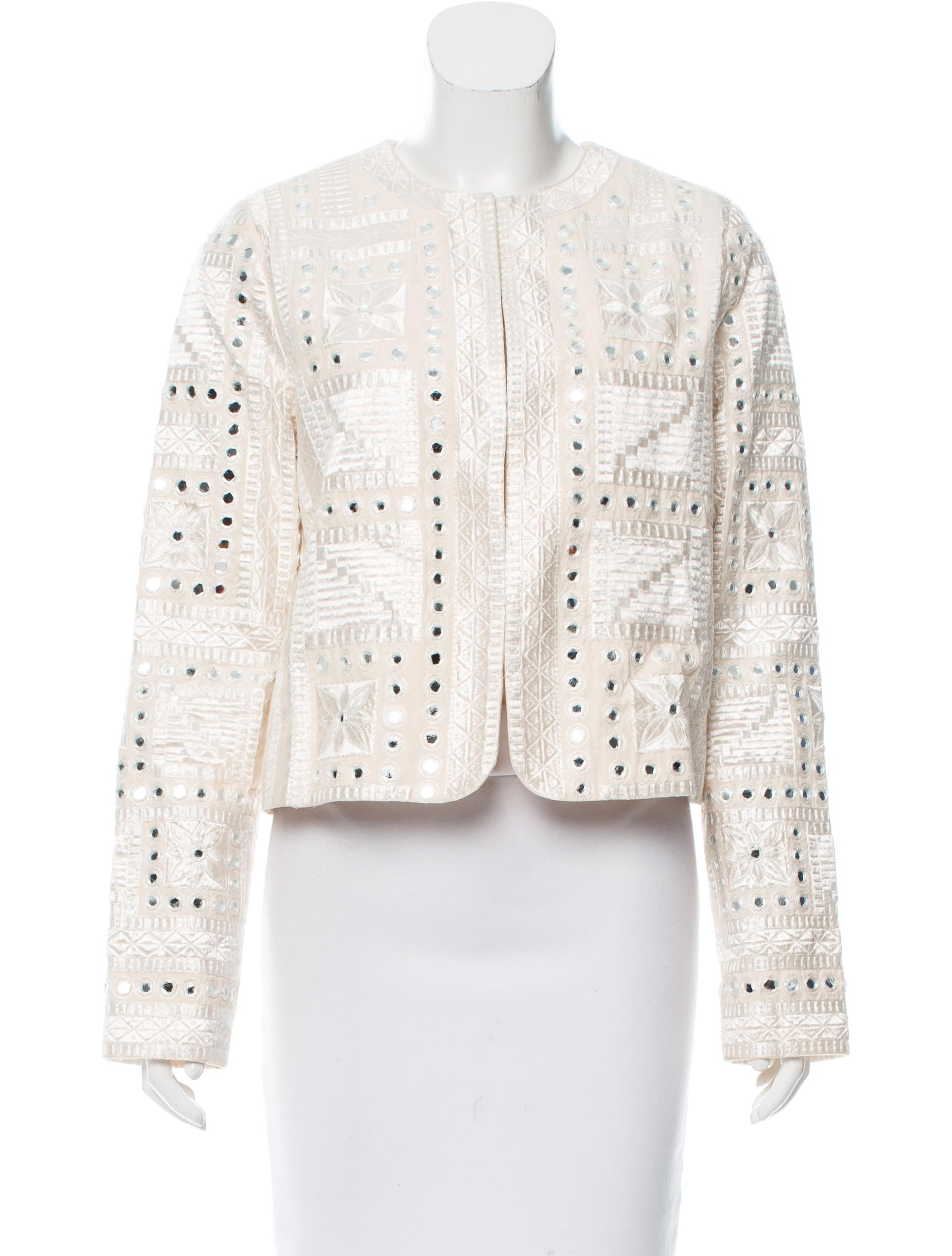 Alice olivia embroidered lightweight jacket w tags