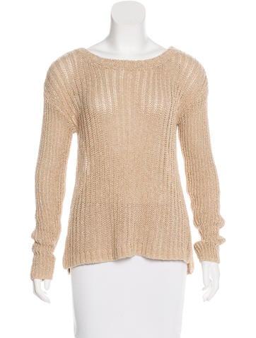 Alice + Olivia Metallic Knit Sweater None
