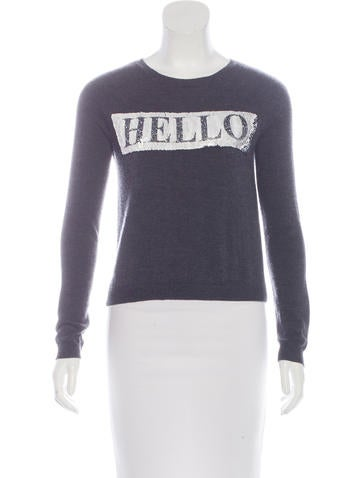 Alice + Olivia Wool Embellished Top None