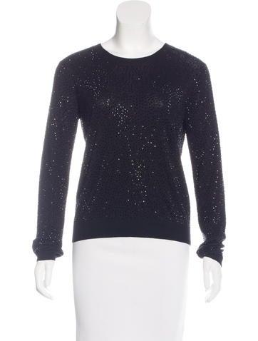 Alice + Olivia Embellished Long Sleeve Sweater None