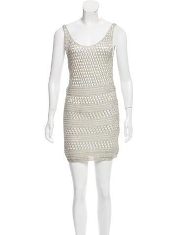 Alice + Olivia Gabby Metallic Knit Dress w/ Tags None