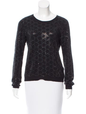 Alice + Olivia Embellished Wool Sweater None