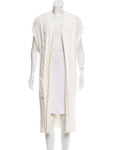 Alice + Olivia Sleeveless Cable Knit Duster None