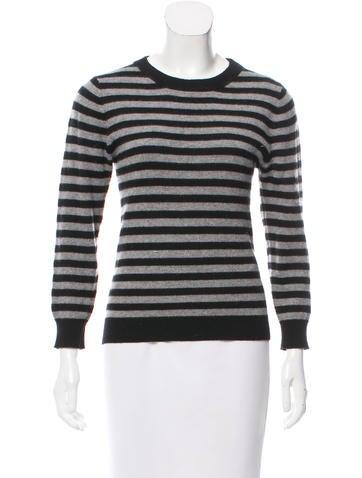 Alice + Olivia Striped Crew Neck Sweater None