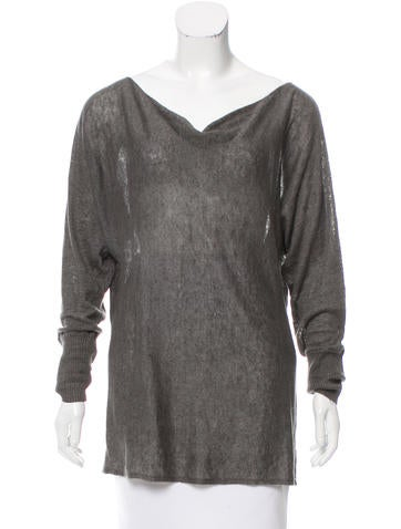 Alice + Olivia Linen Long Sleeve Sweater None