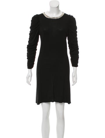 Alice + Olivia Embellished Sweater Dress None