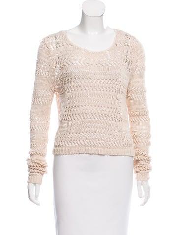 Alice + Olivia Open Knit Linen Sweater None