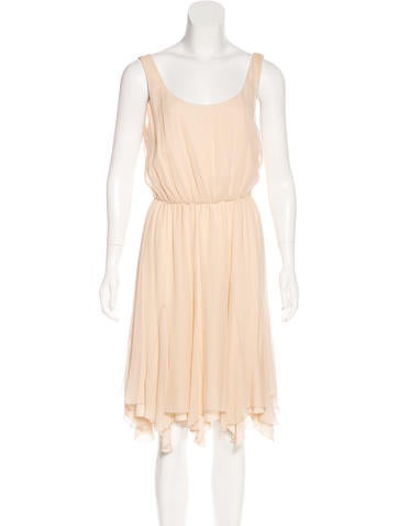 Alice + Olivia Silk Midi Dress None