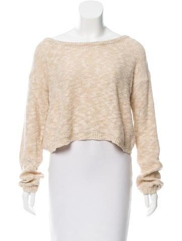Alice + Olivia Cropped Rib Knit Sweater None