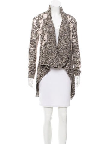 Alice + Olivia Wool Patterned Cardigan None