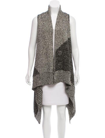Alice + Olivia Open-Front Longline Cardigan w/ Tags None