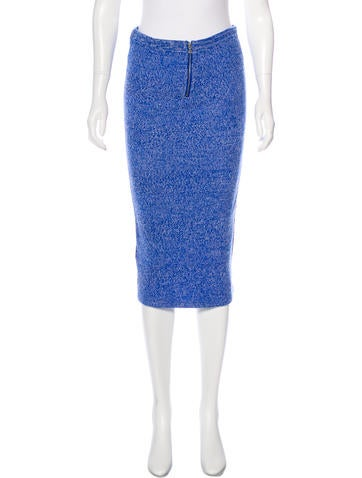 Alice + Olivia Wool Knit Skirt None