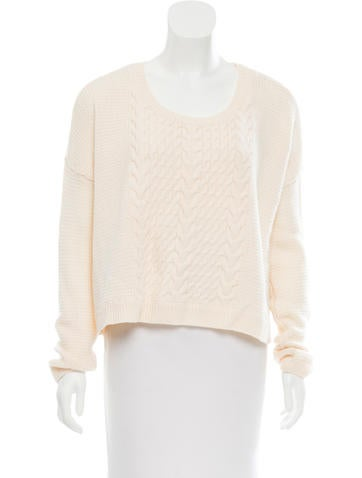 Alice + Olivia Wool Cable Knit Sweater None