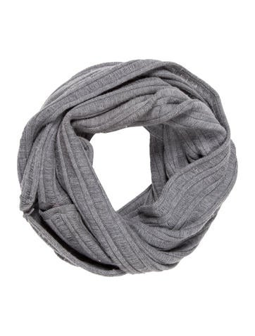 Alice + Olivia Wool Rib Knit Infinity Scarf None