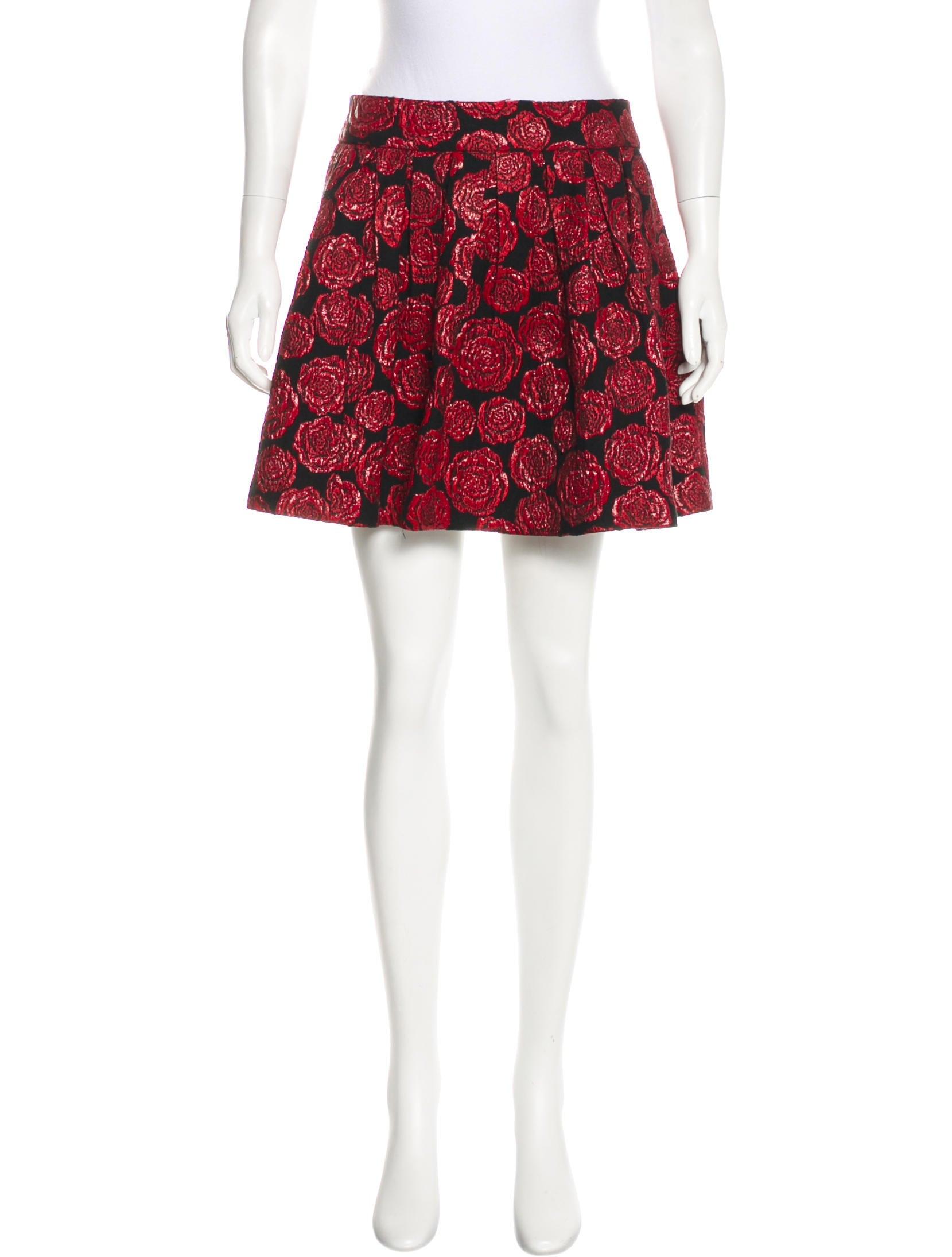 Rose Print Mini Skirt W Tags