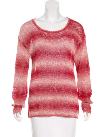 Alice + Olivia Scoop Neck Knit Sweater None