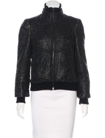 Alice + Olivia Faux Fur-Lined Casual Jacket None