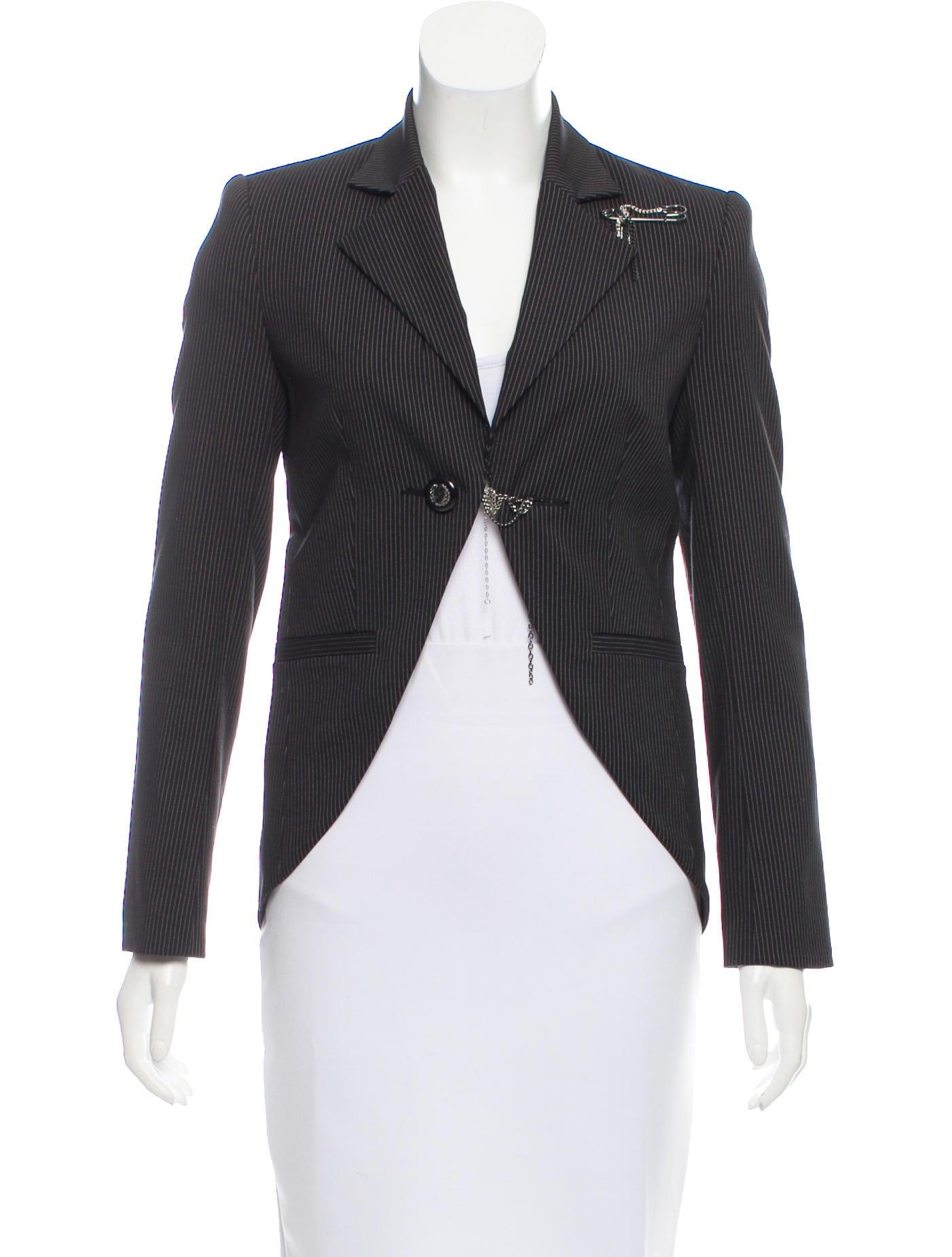 9cc82ad430f0f2 Alice + Olivia Embellished Pinstripe Blazer - Clothing - WAO64705 ...