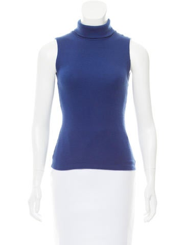 Alice + Olivia Sleeveless Turtleneck Top None