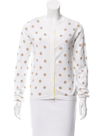 Alice + Olivia Polka Dot Button-Up Cardigan w/ Tags None