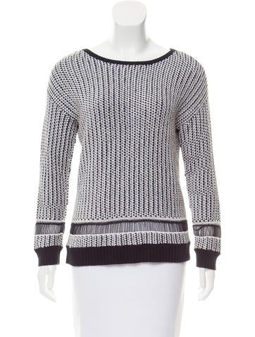 Alice + Olivia Rib Knit-Trimmed Sweater None