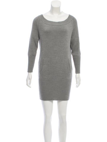 Alice + Olivia Wool-Blend Sweater Dress None