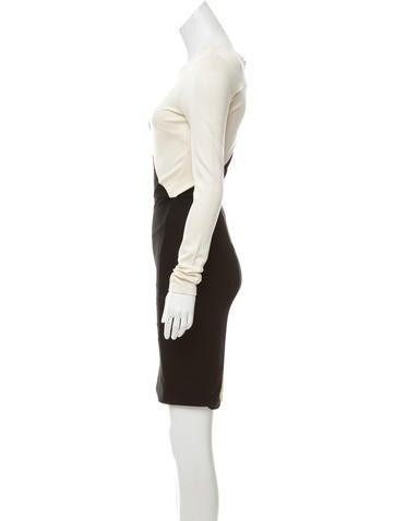 Colorblock Knee-Length Dress