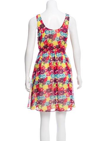 Silk Sleeveless Mini Dress
