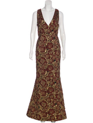 Brocade Evening Gown