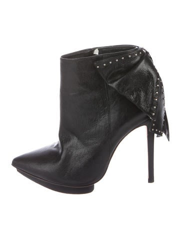 Alice + Olivia Leather Ankle Boots