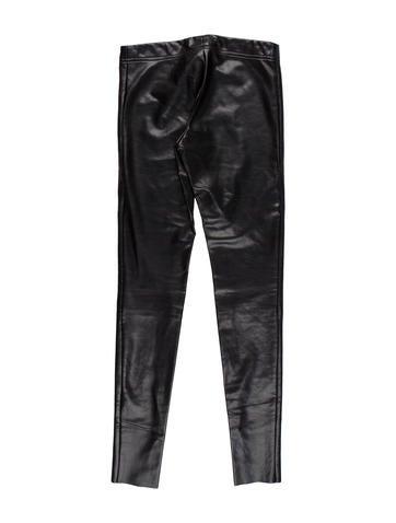 Vegan Leather Low-Rise Pants