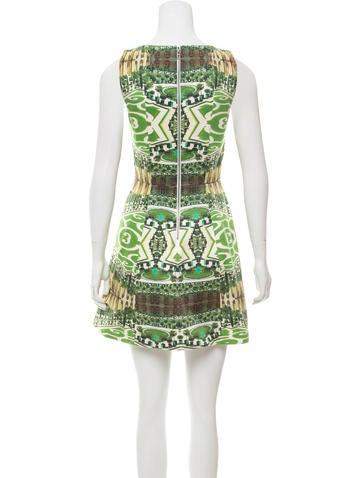 Alice + Olivia Sleeveless Printed Dress