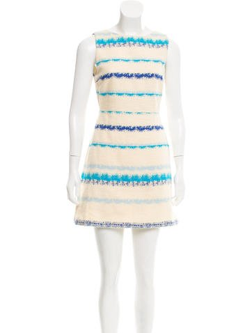 Alice + Olivia Sleeveless Mini Dress None